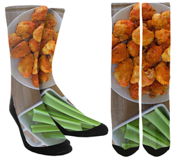 buffalo wings, buffalo wing socks, funny socks, cool socks, crazy socks, socks for men, socks for women, custom socks, customize your own socks, mens socks, womens socks, crew socks, custom crew socks, unique socks, novelty socks, crazy socks for men, crazy socks for women, custom socks