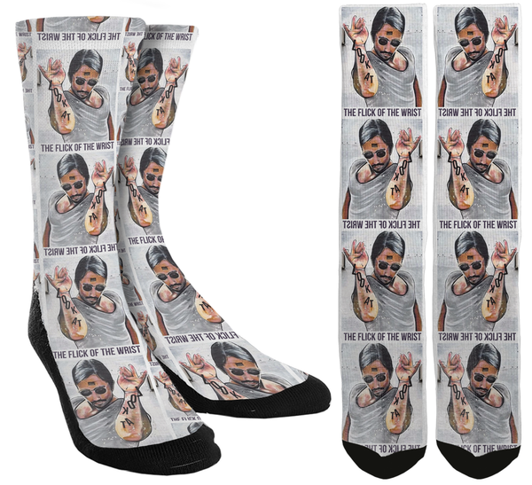 Look At the Flick of the Wrist Crew Socks - SockAndShop