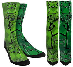 Troll Face Crew Socks - SockAndShop