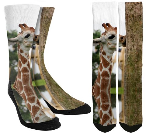 New Giraffe Crew Socks - SockAndShop