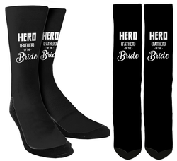Wedding Socks - Hero (Father) of the Bride Crew Socks - SockAndShop