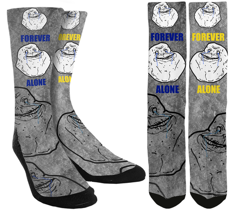 Forever Alone Crew Socks - SockAndShop
