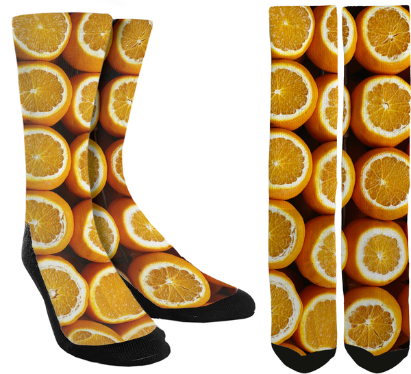 New Oranges Crew Socks - SockAndShop
