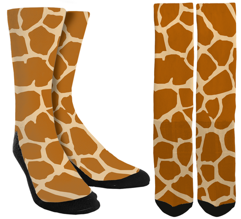 New Giraffe Print Crew Socks - SockAndShop