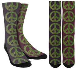 Peace Sign Crew Socks - SockAndShop