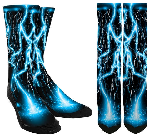 Blue Lightning Socks - SockAndShop