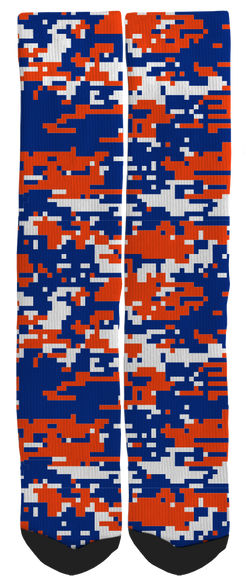 Camouflage - Red, White & Blue Camouflage Novelty Crew Socks - SockAndShop