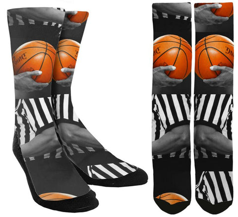 Novelty Basketball Crew Socks - SockAndShop