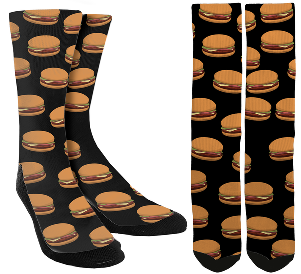 Hamburger Crew Socks - SockAndShop