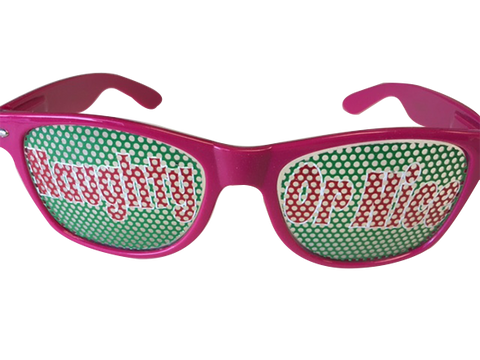 Naughty or Nice Sunglasses - SockAndShop