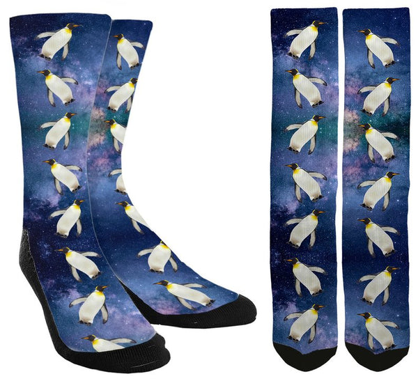 Penguins in Space Socks - SockAndShop