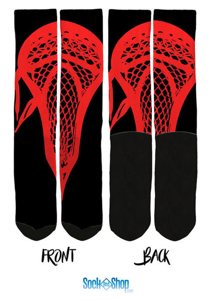 Red Lacrosse Socks - SockAndShop