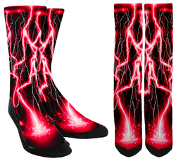 Red Lightning Socks - SockAndShop