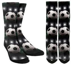 Soccer Ball Lights Socks - SockAndShop