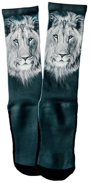 White Lion Crew Socks - SockAndShop