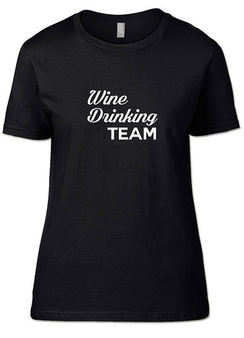 Wine Drinking Team T-Shirt - SockAndShop