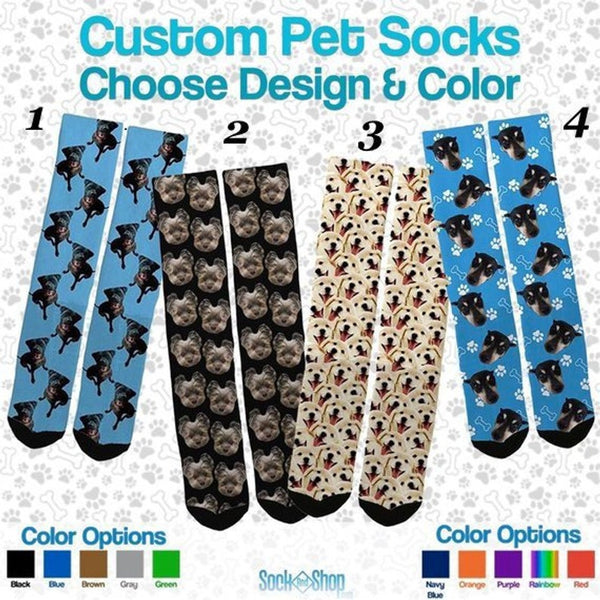Custom Pet Socks - Custom Dog Socks - Custom Cat Socks - SockAndShop