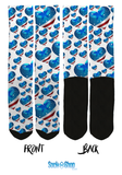 American Flag - USA Heart Crew Socks - SockAndShop
