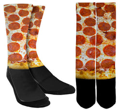 Pepperoni Pizza Crew Socks - SockAndShop