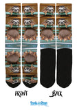 Hanging Sloth Crew Socks - SockAndShop