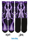 Purple Lightning Socks - SockAndShop