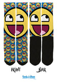 Smiley Face Crew Socks - SockAndShop