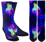 New Rave Lighting Crew Socks - SockAndShop