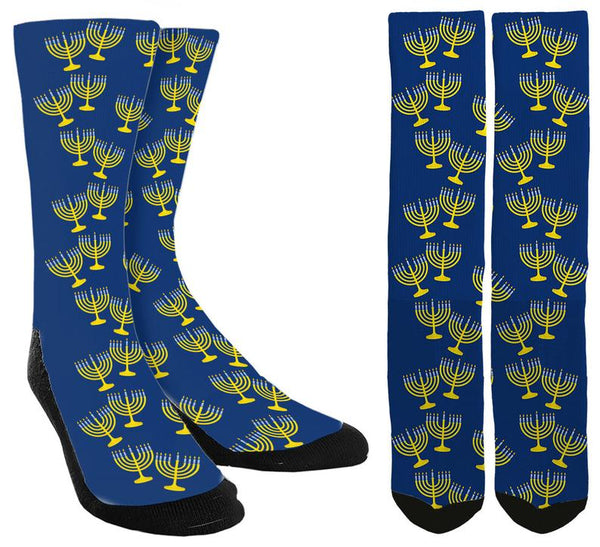 Hanukkah Menorah Socks - SockAndShop