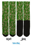 Candy Cane Crew Socks - Christmas Socks - SockAndShop