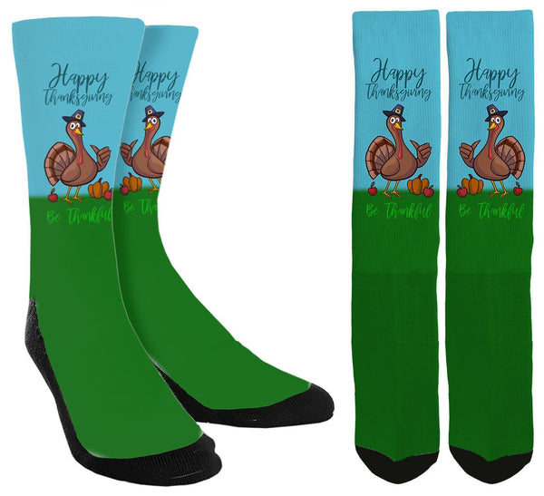 Happy Thanksgiving Crew Socks - SockAndShop