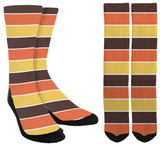 Thanksgiving Colors Crew Socks - SockAndShop