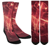 Novelty Red Galaxy Crew Socks - SockAndShop