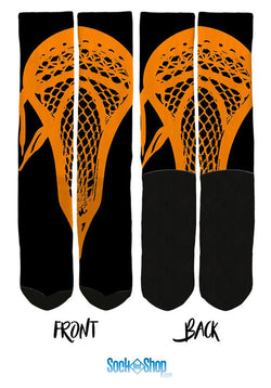 Orange Lacrosse Crew Socks - SockAndShop