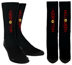 Black Halloween Crew Socks - SockAndShop