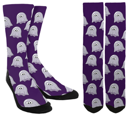 New Halloween Ghost Crew Socks - SockAndShop