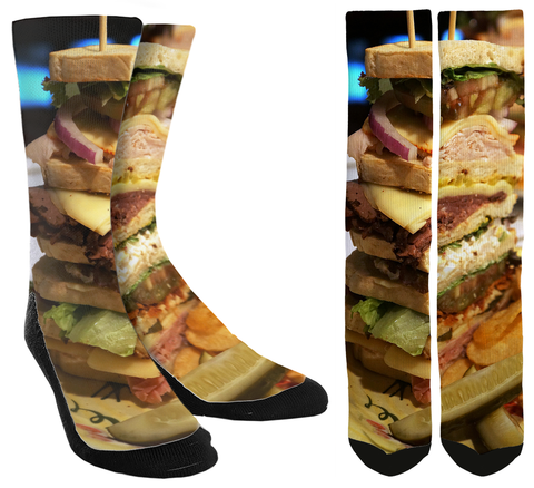 Sandwich Deluxe Novelty Crew Socks - SockAndShop