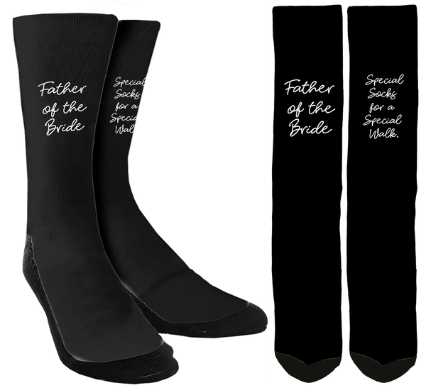 "Wedding Socks - Father of the Bride ""Special Socks for a Special Walk"" - SockAndShop"