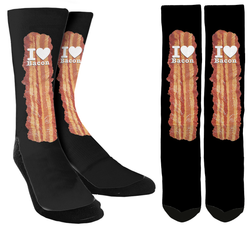 I Love Bacon Crew Socks - SockAndShop