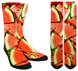 Watermelon Novelty Crew Socks - SockAndShop