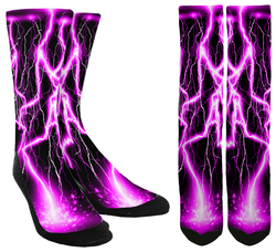 Pink Lightning Socks - SockAndShop