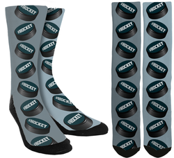 Hockey Puck Crew Socks - SockAndShop