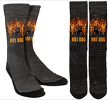 """Hot Dog"" Crew Socks - SockAndShop"