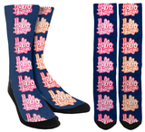 Hello I Love You Crew Socks - SockAndShop