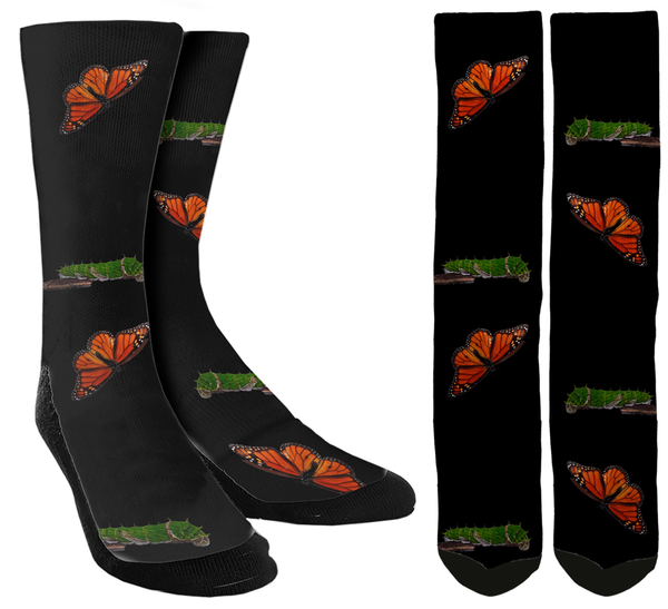 Butterfly Crew Socks - SockAndShop