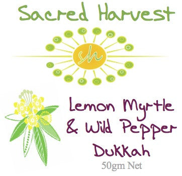 Lemon Myrtle Wild Pepper Dukkah 45gm