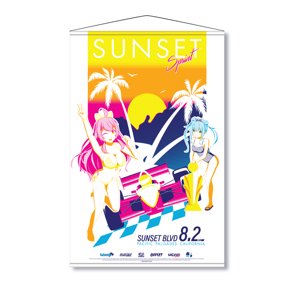 SUNSET SPRINT WALL SCROLL