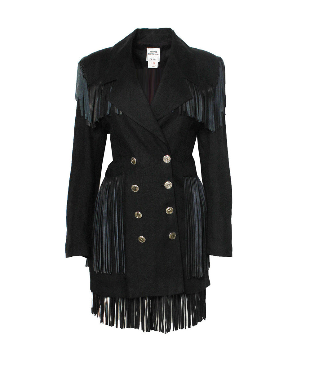 Claude Barthelemy Fringe Jacket and Skirt Set - C.Madeleine's