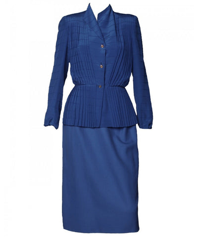 Roberta di Camerino 1970s Pleated Blazer and Skirt - C.Madeleine's