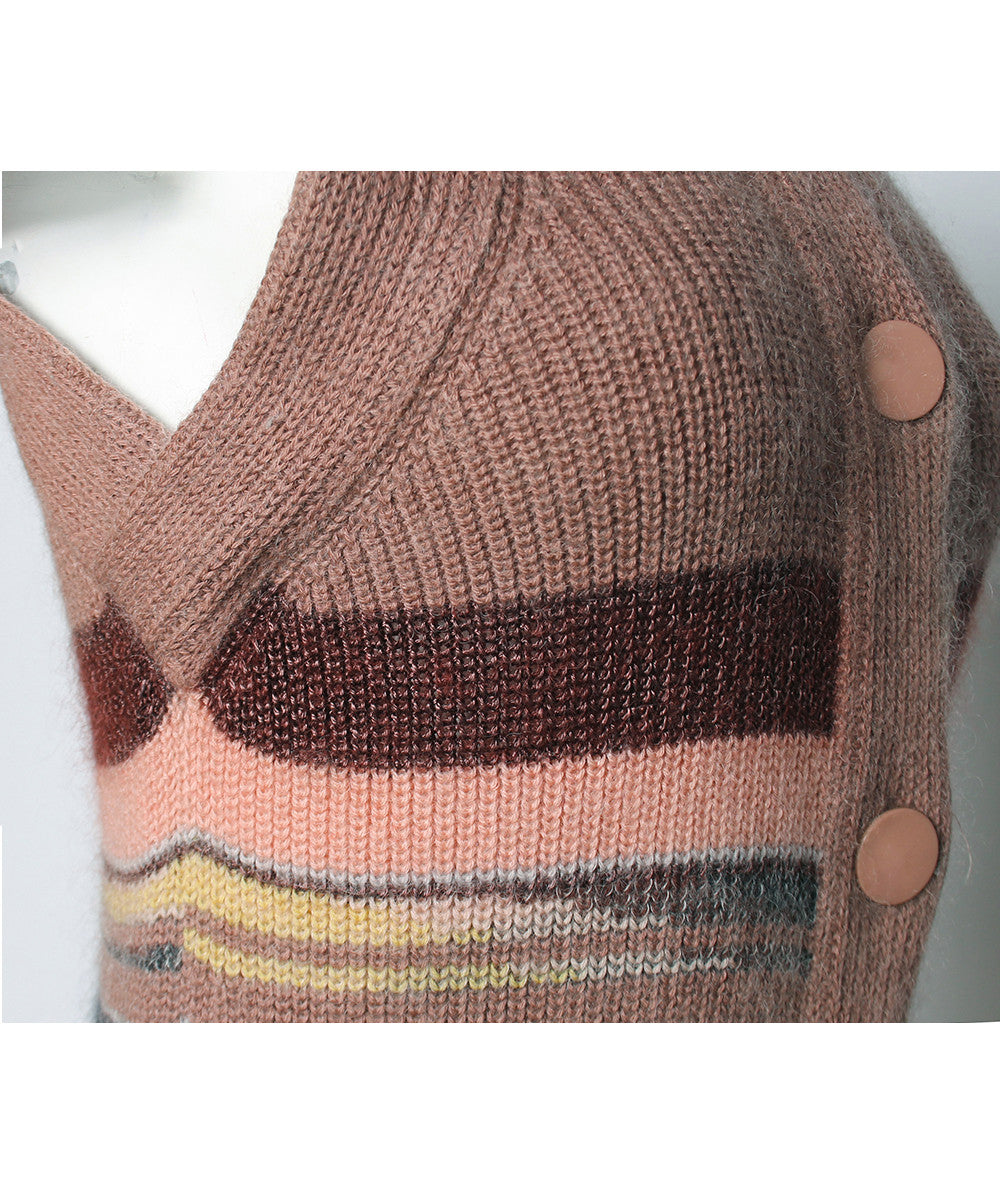 PROGRESS- Missoni Colonial Cashmere Knit Sleeveless Button Dress - C.Madeleine's