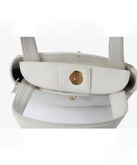 Barry Kieselstein-Cord White Leather Textured Mini bag - C.Madeleine's